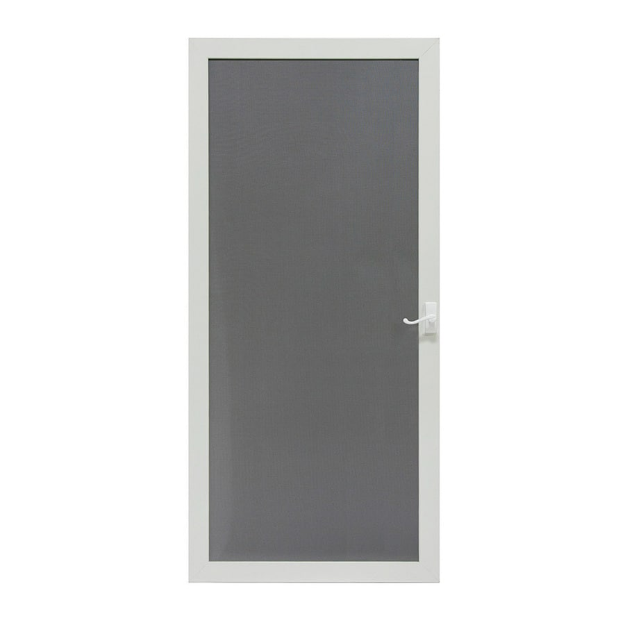 LARSON Pembrook White Steel Hinged Screen Door (Common: 32-in x 81-in; Actual: 31.75-in x 79.75-in)