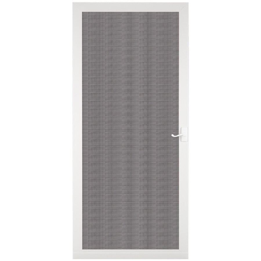 Larson Pembrook White Aluminum Hinged Screen Door Common
