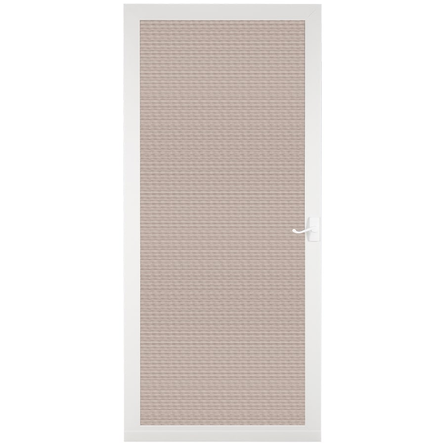 LARSON Pembrook White Aluminum Hinged Screen Door (Common: 36-in x 81-in; Actual: 35.75-in x 79.75-in)