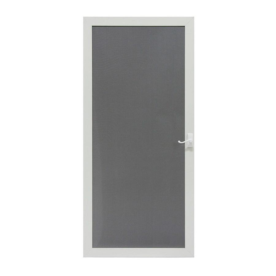 LARSON Pembrook Brown Aluminum Hinged Screen Door (Common: 32-in x 81-in; Actual: 31.75-in x 79.75-in)