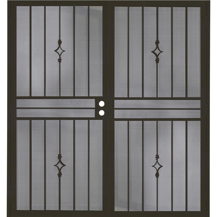 LARSON Pembrook Brown Aluminum Hinged Screen Door (Common: 32 In X 81
