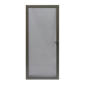 LARSON Pembrook Brown Aluminum Hinged Screen Door (Common 36-in x 81-  sc 1 st  Loweu0027s : screan doors - pezcame.com