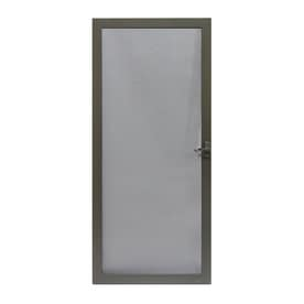 LARSON Pembrook Brown Aluminum Hinged Screen Door (Common 36-in x 81-  sc 1 st  Loweu0027s & Shop Screen Doors at Lowes.com