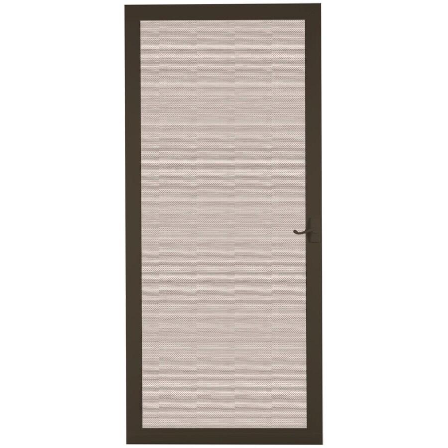LARSON Pembrook Brown Wood Hinged Screen Door (Common: 36-in x 81-in; Actual: 35.75-in x 79.75-in)