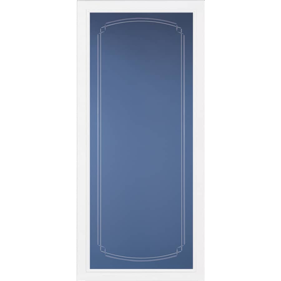 Pella Pella Select White Full-View Aluminum Standard Storm Door (Common: 36-