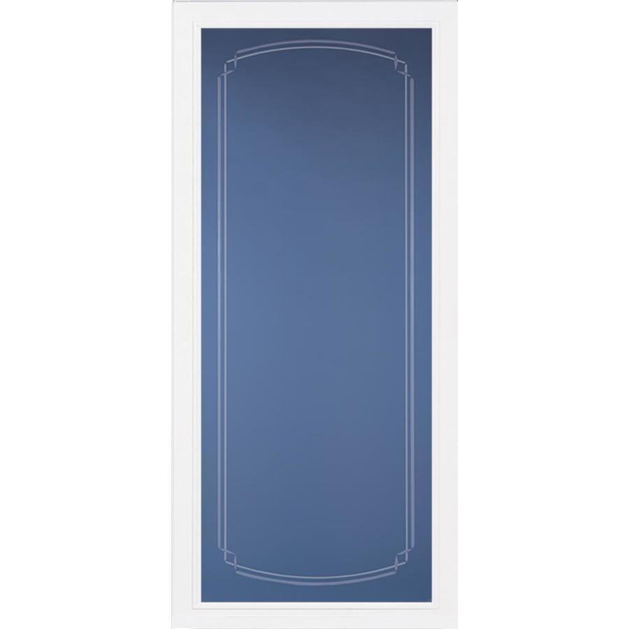 Pella White Full-view Aluminum Standard Storm Door (Common: 36-in x 81-in; Actual: 35.75-in x 79.875-in)