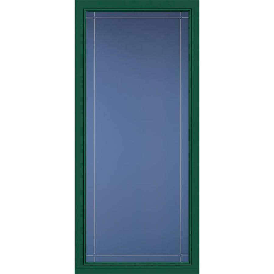 Pella Select Hunter Green Full-View Aluminum Standard Storm Door (Common: 36-in x 81-in; Actual: 35.75-in x 79.875-in)