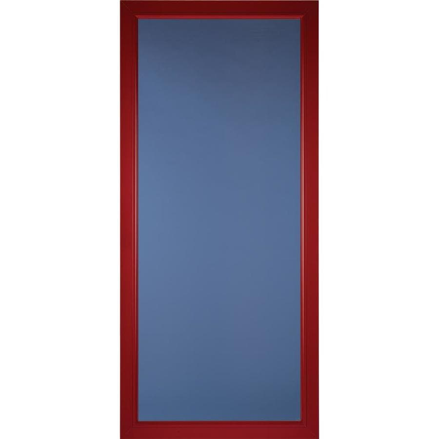 Pella Pella Select Real Red Full-View Aluminum Standard Storm Door (Common: 36-in x 81-in; Actual: 35.75-in x 79.875-in)