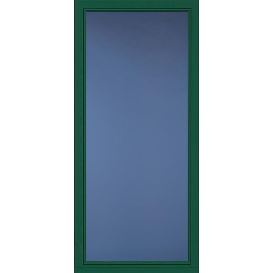 Pella Select Hunter Green Full-View Aluminum Standard Storm Door (Common: 36-in x 81-in; Actual: 35.75-in x 79.875-in)