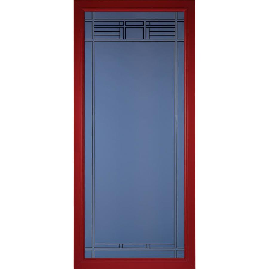 Pella Select Real Red Full-View Aluminum Standard Storm Door (Common: 36-in x 81-in; Actual: 35.75-in x 79.875-in)