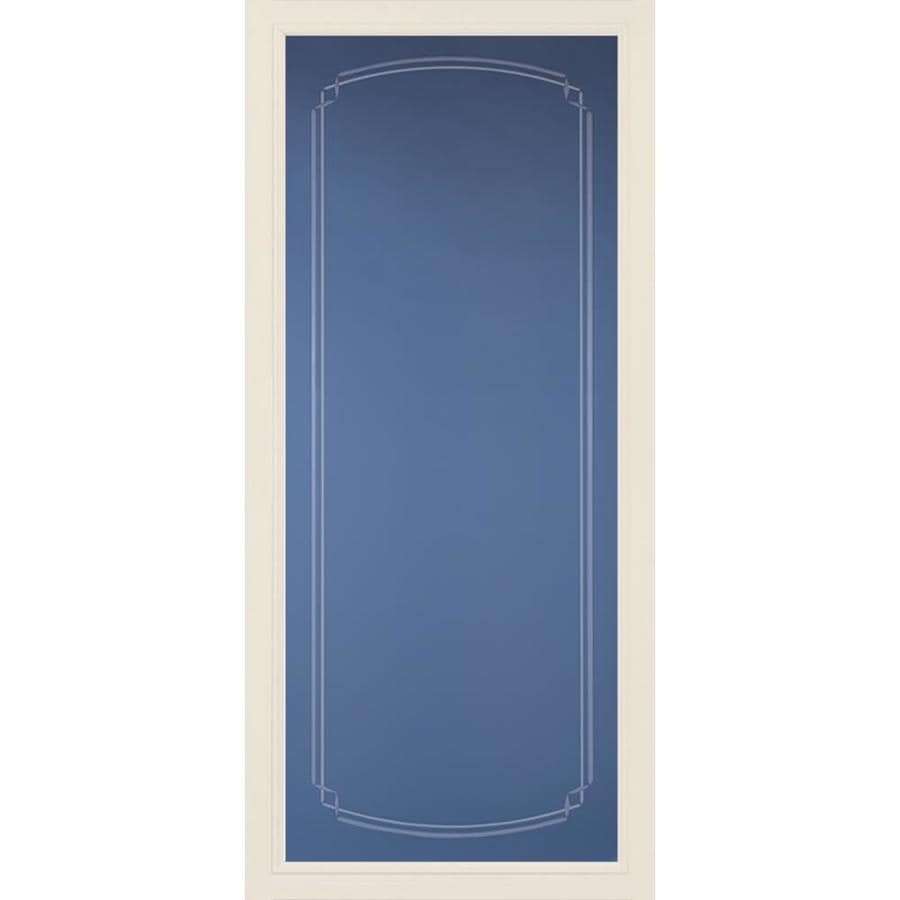 Pella Pella Select Poplar White Full-view Aluminum Storm Door (Common: 36 x 81 (Actual: 35.75 x 79.875)