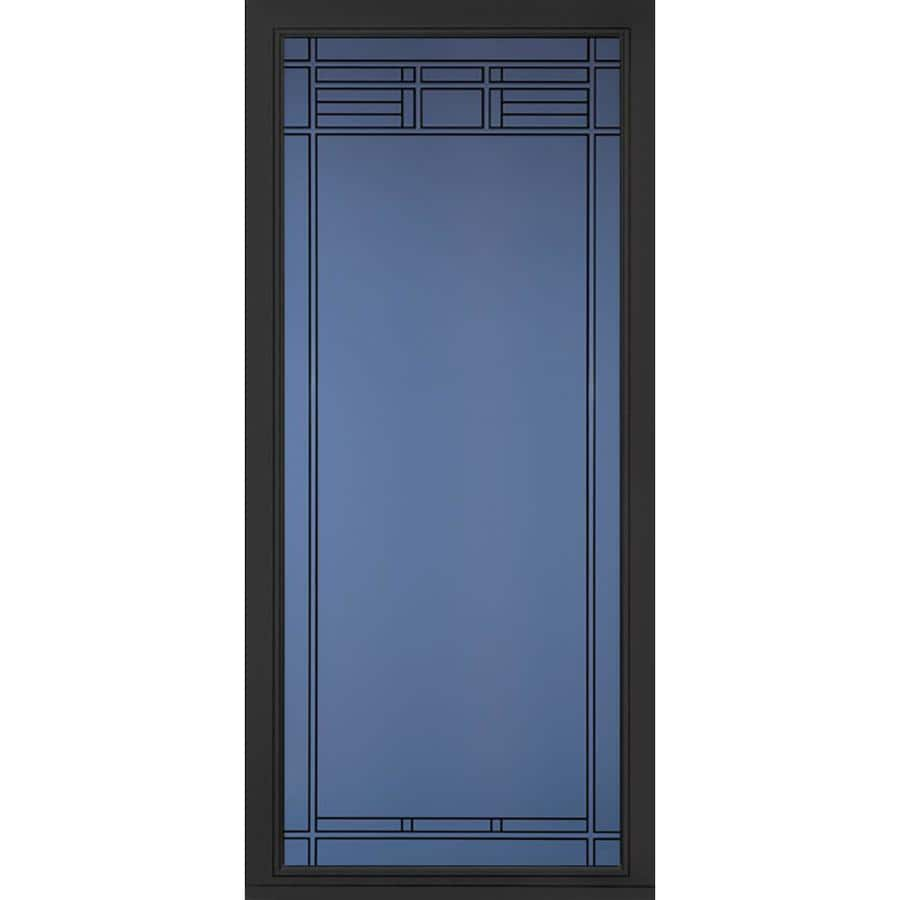 Pella Pella Select Black Full-view Aluminum Storm Door (Common: 36 x 81 (Actual: 35.75 x 79.875)