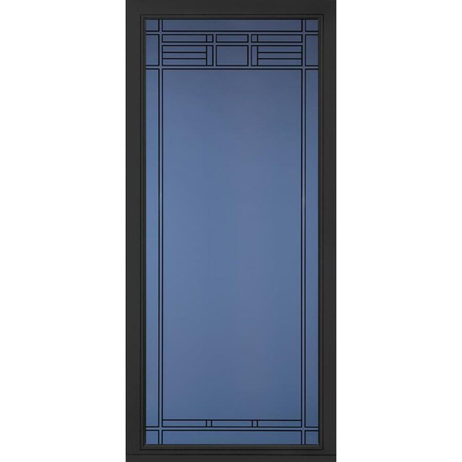 Pella Select Black Full View Aluminum Storm Door Common 36 In X 81 In Actual 35 75 In X 79 875 In At Lowes Com