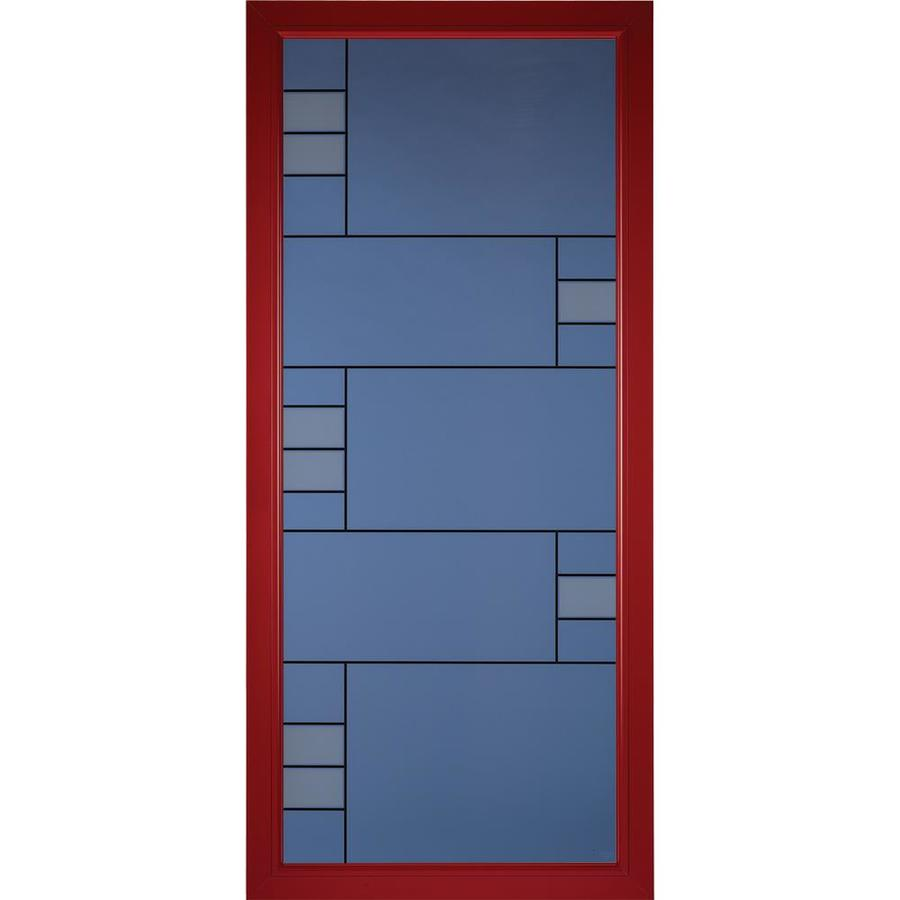 Delicieux Pella Select Real Red Full View Aluminum Standard Storm Door (Common: 36