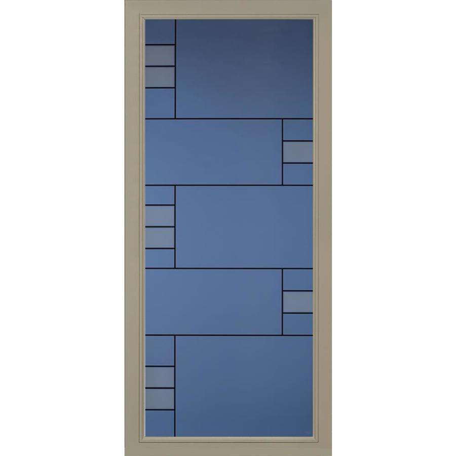 Pella Pella Select Putty Full-View Aluminum Standard Storm Door (Common: 36-in x 81-in; Actual: 35.75-in x 79.875-in)