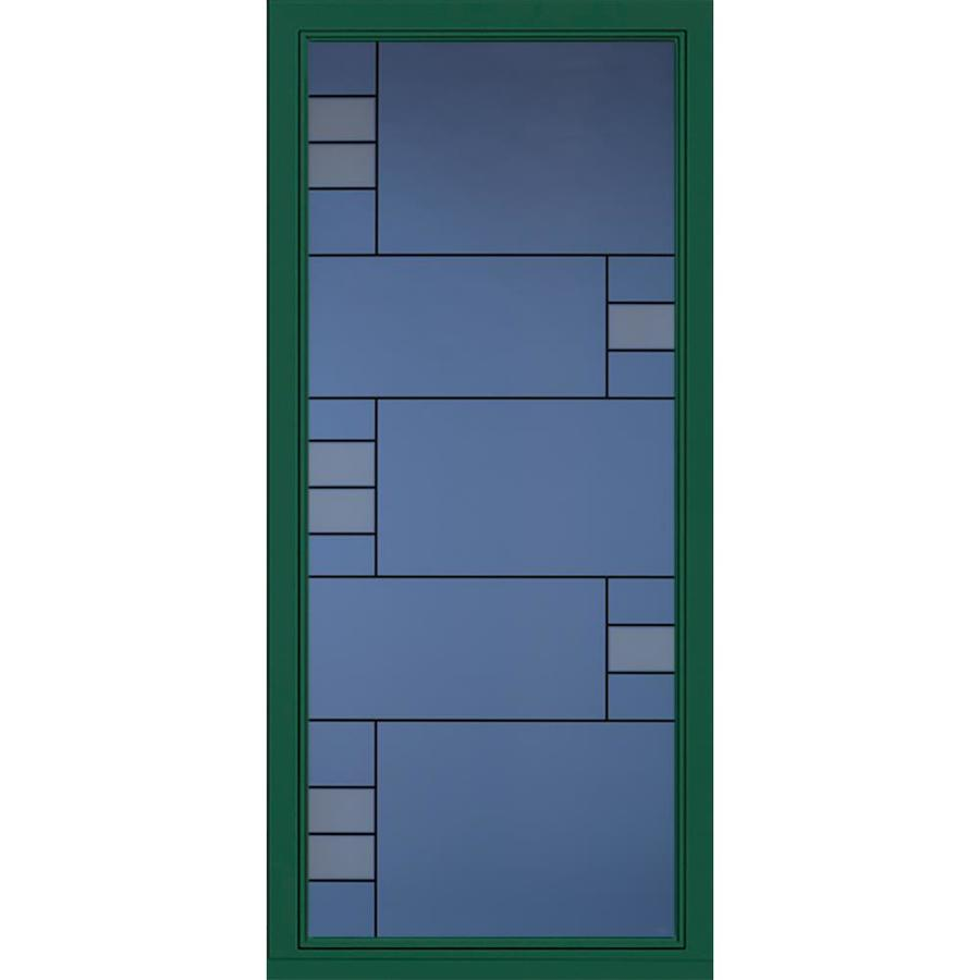 Pella Select Hunter Green Full View Aluminum Standard Storm Door (Common:  36