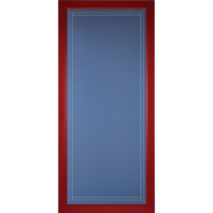 Pella Pella Select Real Red Full-view Aluminum Storm Door (Common: 36 x 81 (Actual: 35.75 x 79.875)