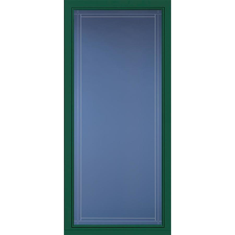Shop Pella Select Hunter Green Full View Aluminum Storm Door With