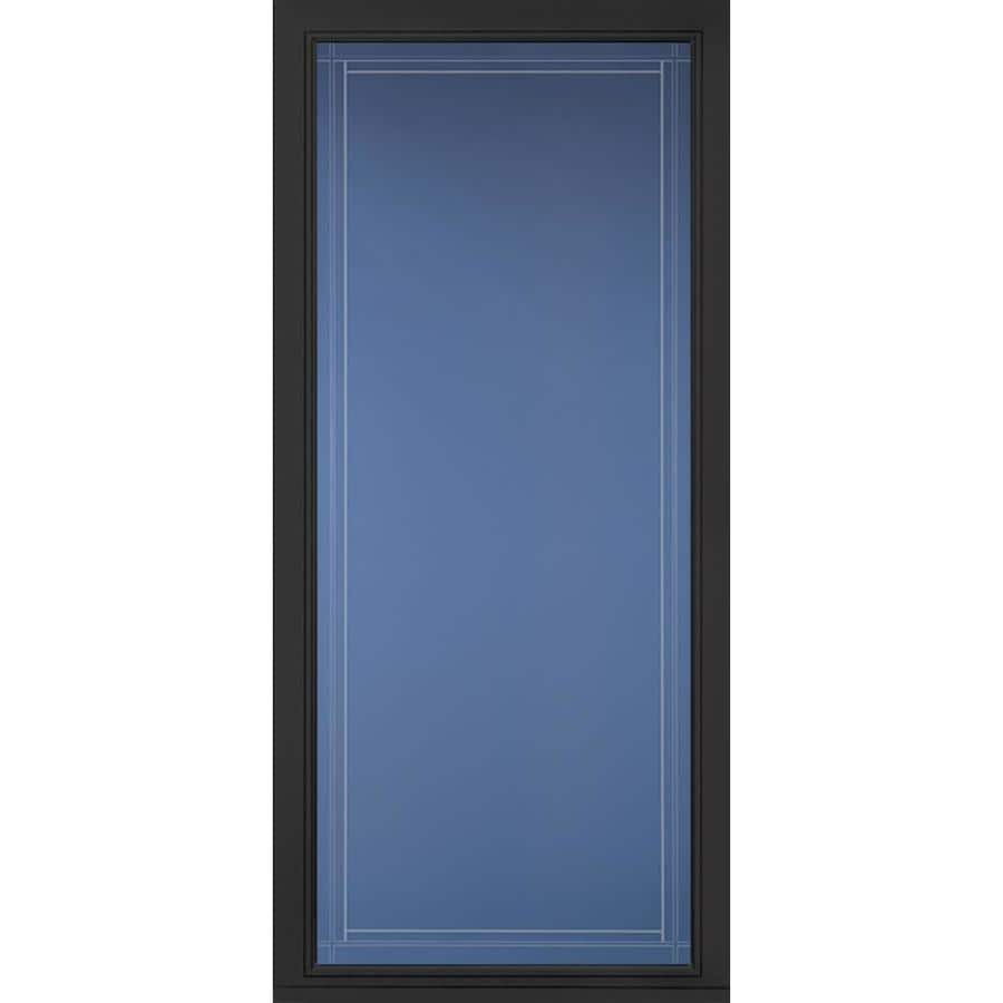 Merveilleux Pella Select Black Full View Aluminum Storm Door (Common: 36 In X