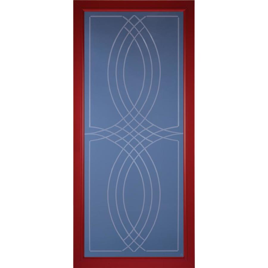 Pella Select Real Red Full-view Aluminum Storm Door (Common: 36 x 81 (Actual: 35.75 x 79.875)