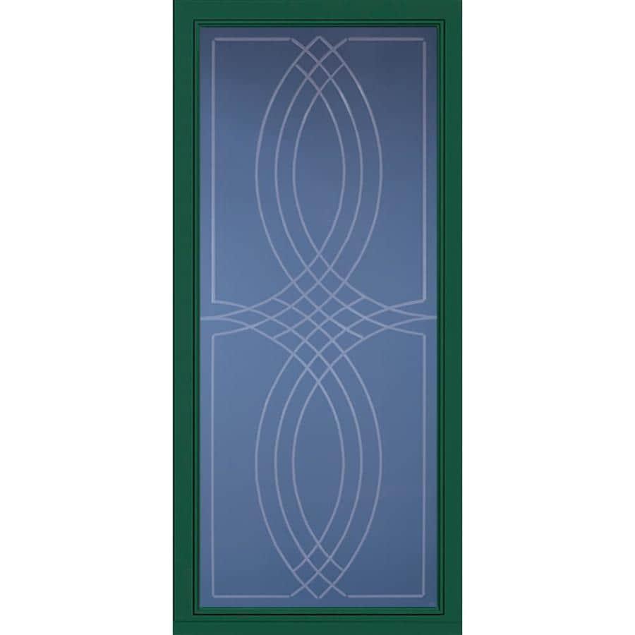 Pella Pella Select Hunter Green Full-view Aluminum Storm Door (Common: 36 x 81 (Actual: 35.75 x 79.875)