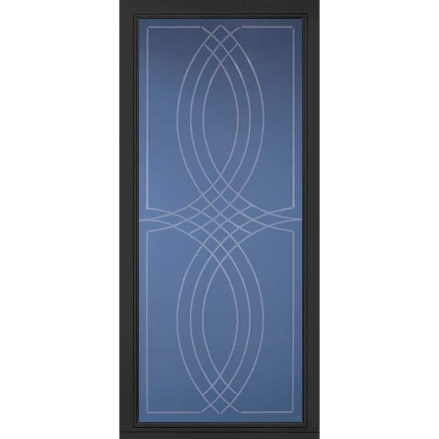 Pella Pella Select Black Full-view Aluminum Storm Door (Common: 36 x 81 (Actual: 35.75 x 79.875)