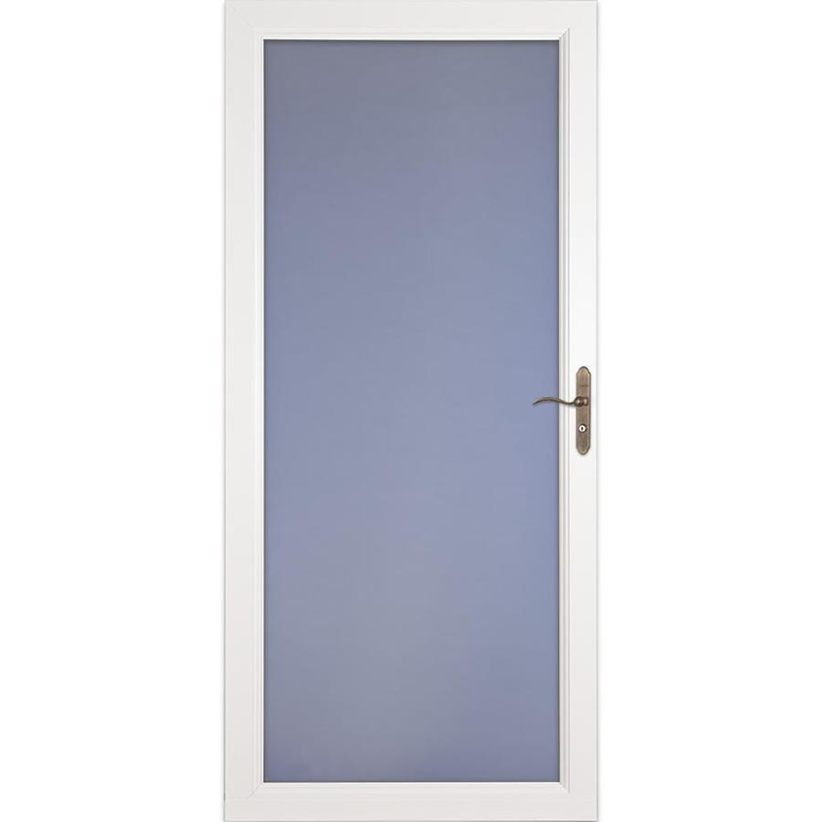 LARSON Signature Premium White Full-View Aluminum Standard Storm Door (Common: 32-in x 81-in; Actual: 31.75-in x 79.75-in)