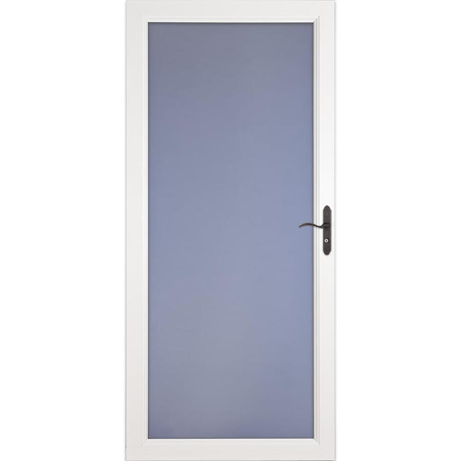 LARSON Signature Premium White Full-View Aluminum Standard Storm Door (Common: 36-in x 81-in; Actual: 35.75-in x 79.75-in)
