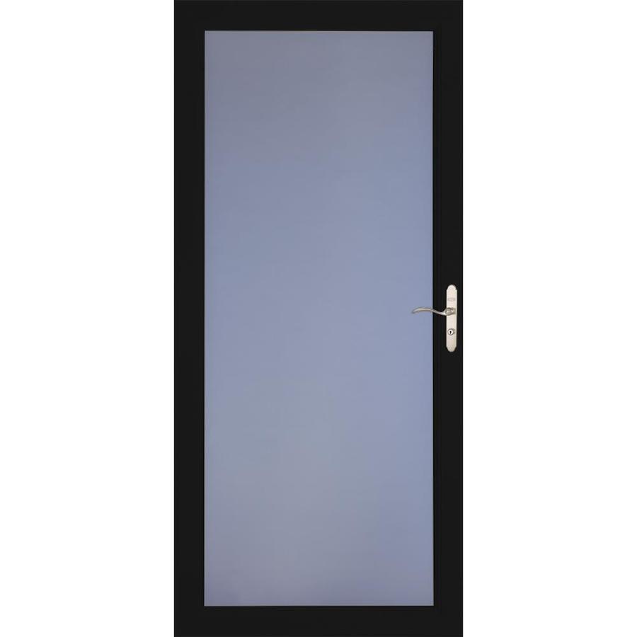 LARSON Signature Premium Black Full-View Aluminum Standard Storm Door (Common: 32-in x 81-in; Actual: 31.75-in x 79.75-in)