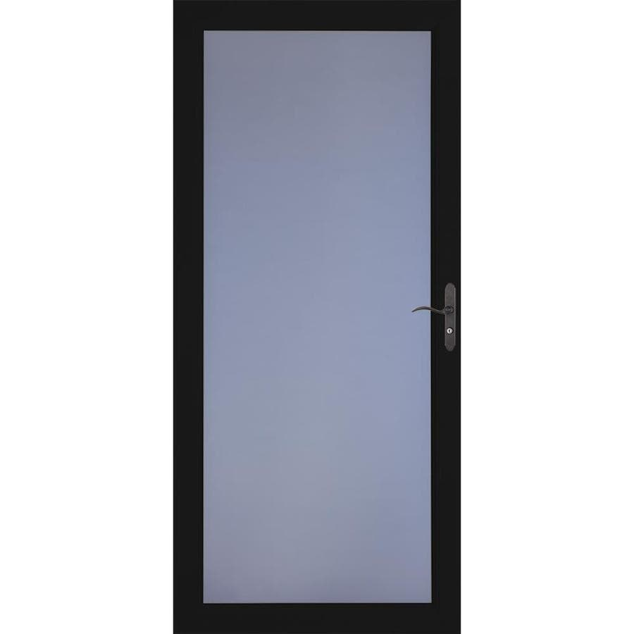 LARSON Signature Premium Black Full-View Aluminum Standard Storm Door (Common: 32-in x 81-in; Actual: 31.75-in x 79.75-in)