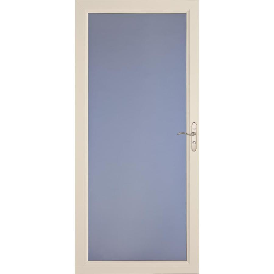 LARSON Signature Premium Almond Full-View Aluminum Standard Storm Door (Common: 32-in x 81-in; Actual: 31.75-in x 79.75-in)