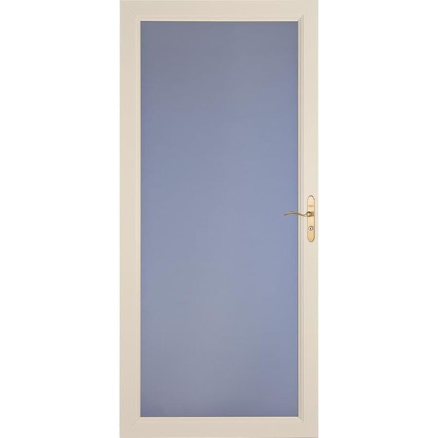 LARSON Signature Premium Almond Full-View Aluminum Standard Storm Door (Common: 36-in x 81-in; Actual: 35.75-in x 79.75-in)