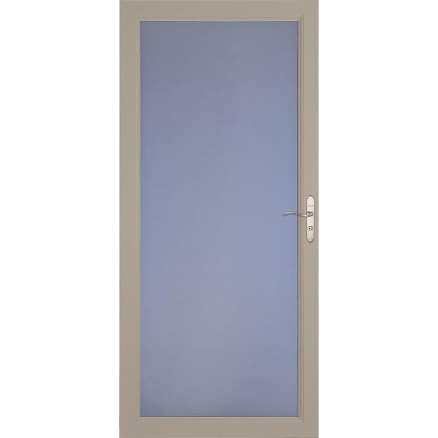 LARSON Signature Premium Sandstone Full-View Aluminum Standard Storm Door (Common: 32-in x 81-in; Actual: 31.75-in x 79.75-in)