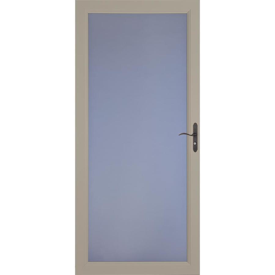 LARSON Signature Premium Sandstone Full-View Aluminum Standard Storm Door (Common: 36-in x 81-in; Actual: 35.75-in x 79.75-in)