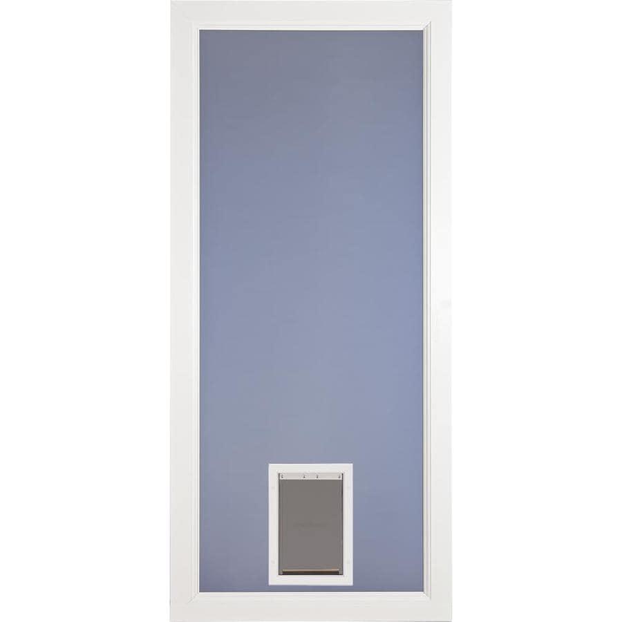 Larson Signature White Full View Aluminum Storm Door With Pet Door