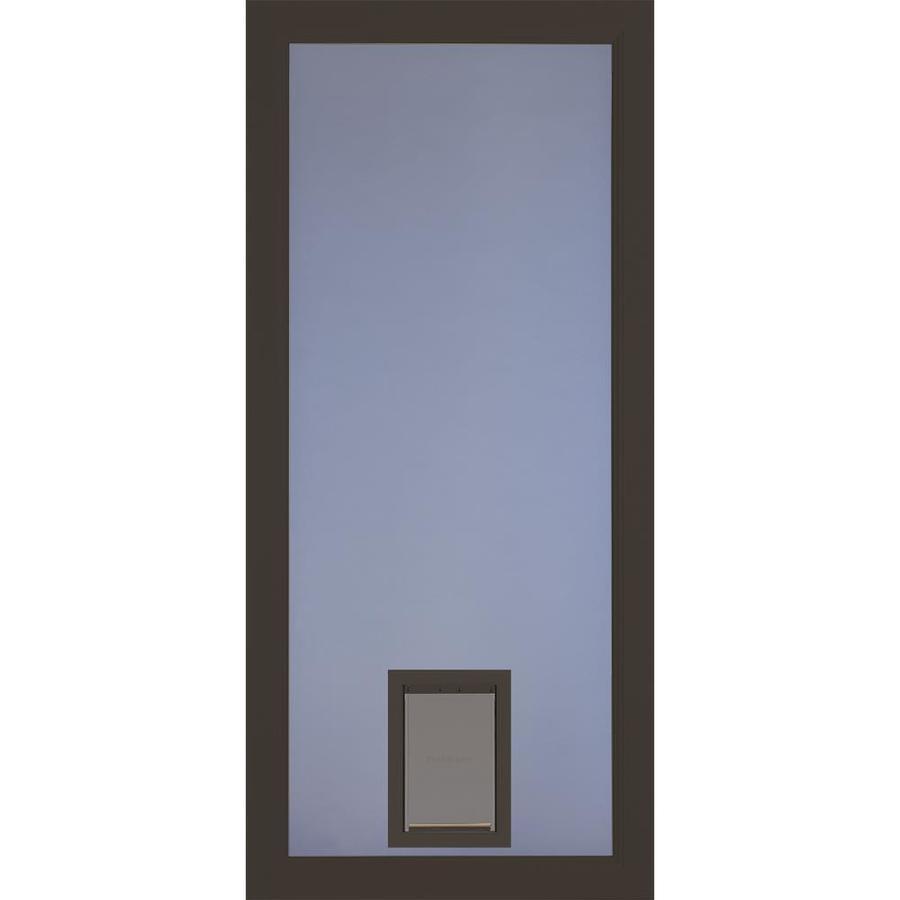Larson Signature Brown Full View Aluminum Storm Door With
