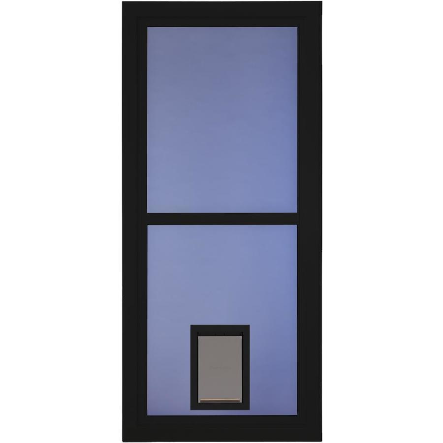 Shop Larson Tradewinds Black Full View Aluminum Storm Door