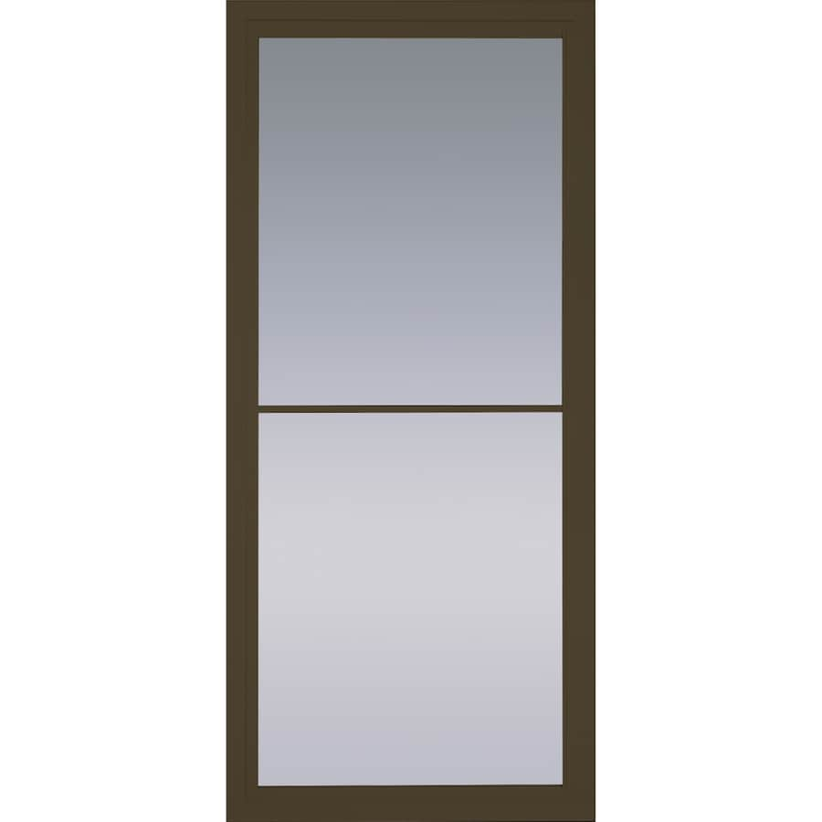 Merveilleux Pella Rolscreen Brown Full View Aluminum Storm Door (Common: 36 In X