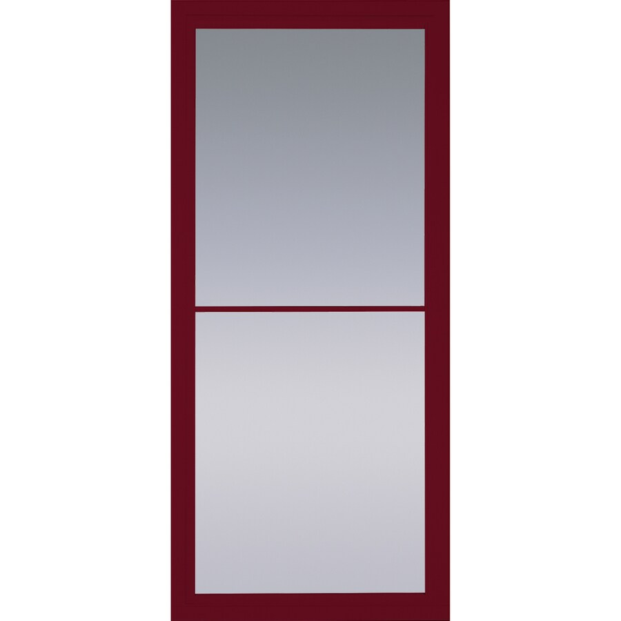 Shop Pella Rolscreen Cranberry Full View Aluminum Storm Door Common