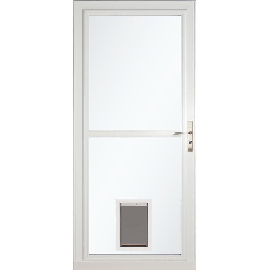 Larson Tradewinds Pet Door White Full View Aluminum Storm