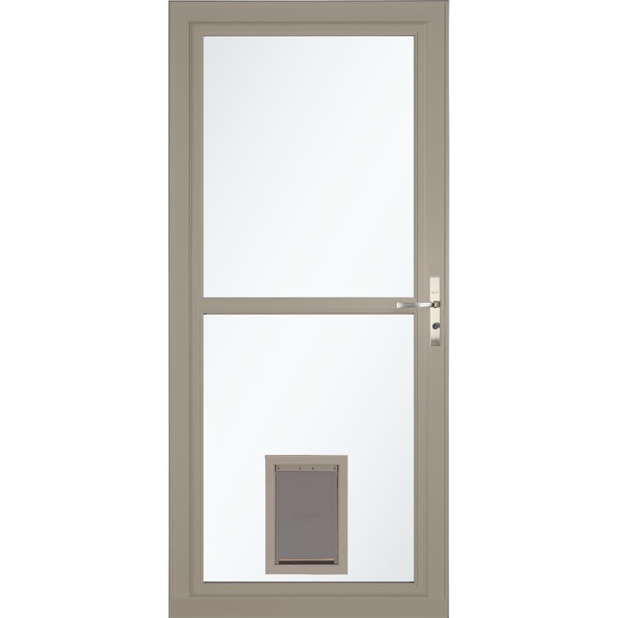 Shop Larson Tradewinds Sandstone Full View Aluminum Storm Door With