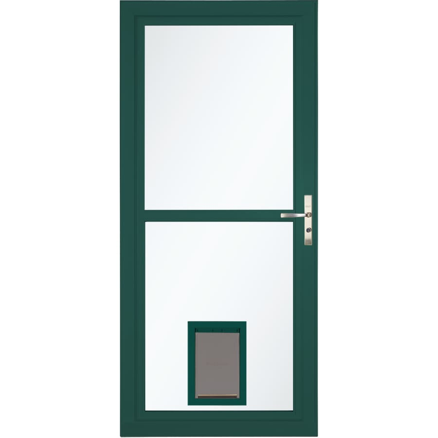 Larson Tradewinds Pet Door Green Full View Aluminum Storm