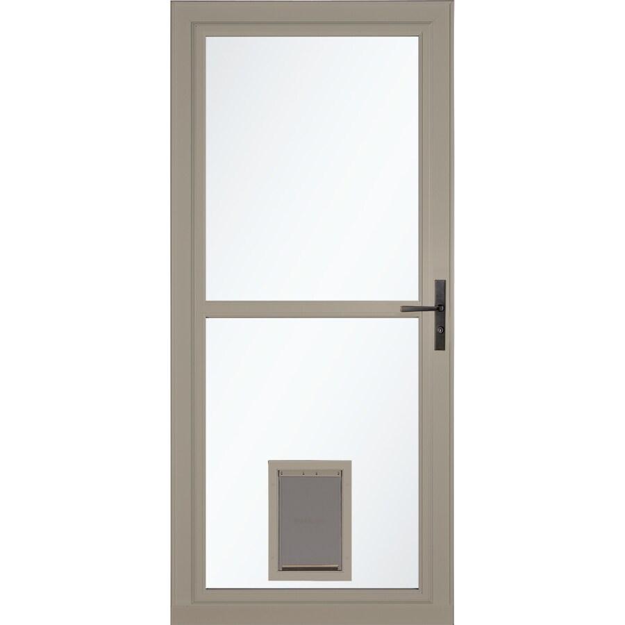 LARSON Tradewinds Pet Door Sandstone Full-View Aluminum