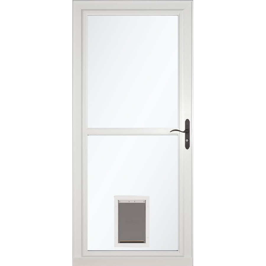 Larson Tradewinds Pet Door White Full View Aluminum Storm Common 32 In X 81 Actual 31 75 79