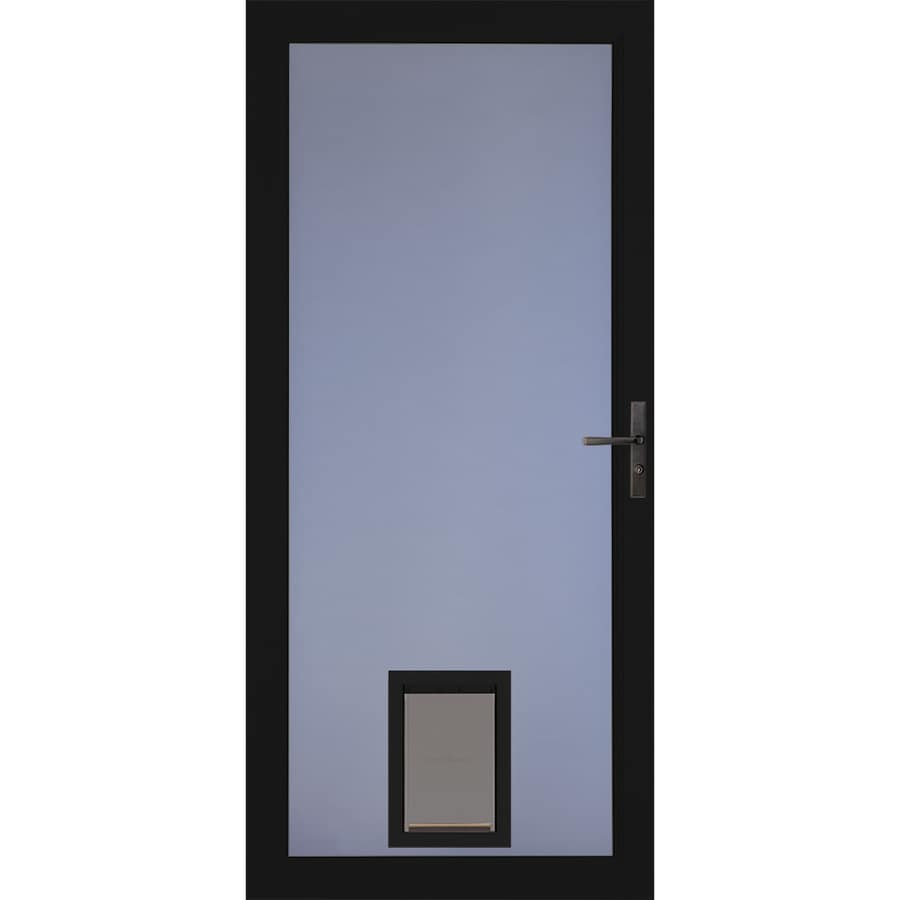 Larson Signature Pet Door Black Full View Aluminum Storm Common 36 In X 81 Actual 35 75 79
