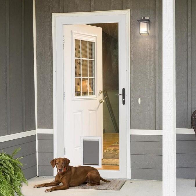 LARSON Signature Pet Door White Full-view Aluminum Storm