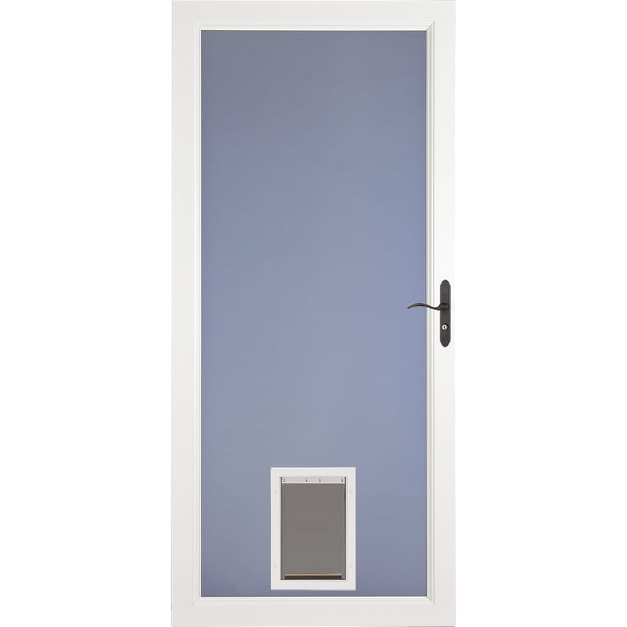 Larson Signature Pet Door White Full View Aluminum Storm