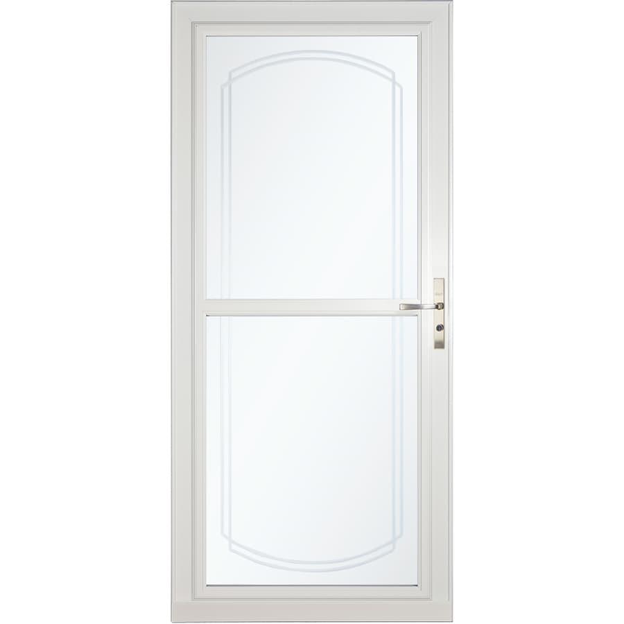 Shop LARSON Tradewinds Selection White Full-View Aluminum Storm Door ...