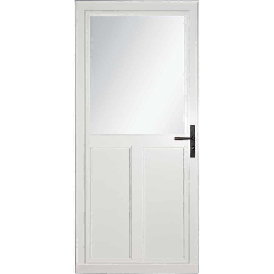 Larson Tradewinds Selection White High View Aluminum Storm