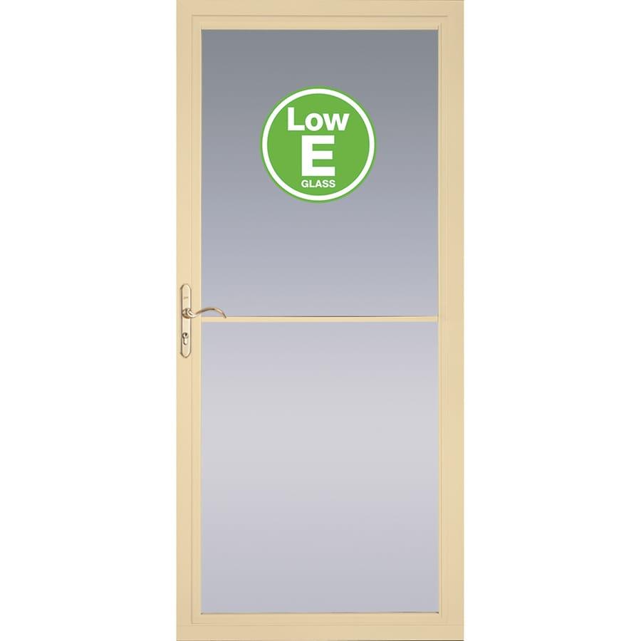 Shop Pella Rolscreen Poplar White Full View Aluminum Storm Door With
